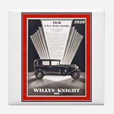 """1929 Willys-Knight Ad"" Tile Coaster"