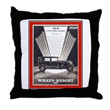 """""""1929 Willys-Knight Ad"""" Throw Pillow"""