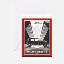 """""""1929 Willys-Knight Ad"""" Greeting Card"""