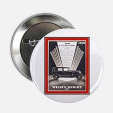 """""""1929 Willys-Knight Ad"""" 2.25"""" Button"""