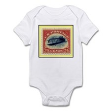 """1918 Inverted Jenny Stamp"" Infant Bodysuit"