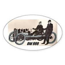 """Old 999"" Oval Decal"