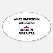 What Happens In GIBRALTAR Stays There Decal