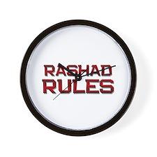 rashad rules Wall Clock