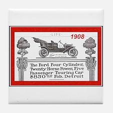 """Model T Ad"" Tile Coaster"