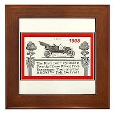 """""""Model T Ad"""" Framed Tile"""