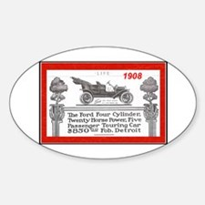 """""""Model T Ad"""" Oval Decal"""
