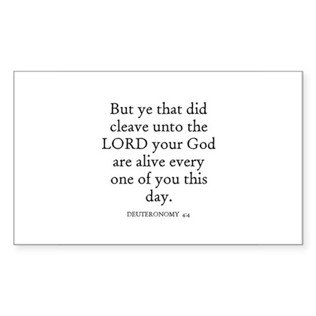 DEUTERONOMY 4:4 Rectangle Sticker