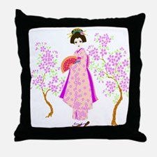 Unique Geisha girls Throw Pillow