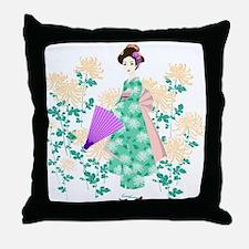 Cool Geisha girls Throw Pillow