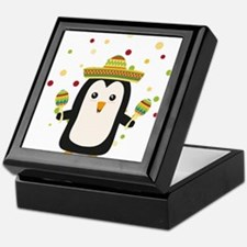 Penguin Mexico Fiesta Cz87f Keepsake Box