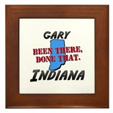 gary indiana - been there, done that Framed Tile