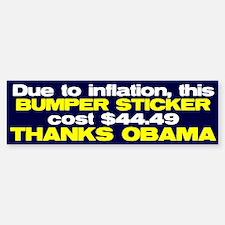 Inflation Bumper Bumper Bumper Sticker