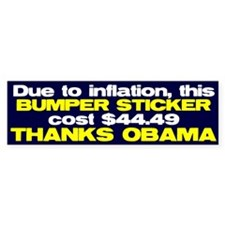 Inflation Bumper Bumper Sticker