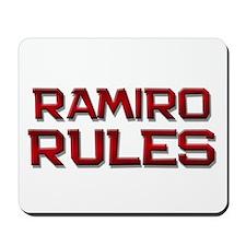 ramiro rules Mousepad