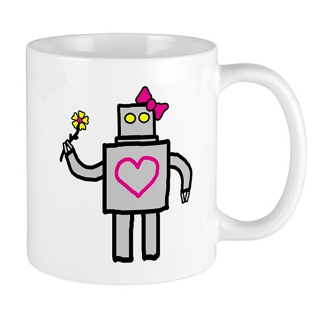 """""""Girly Robot"""" Mug"""