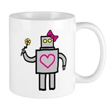 """Girly Robot"" Mug"