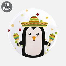 "Penguin Mexico Fiesta Cz87f 3.5"" Button (10 pack)"