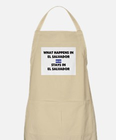 What Happens In EL SALVADOR Stays There BBQ Apron