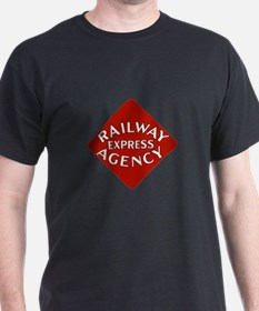 Railway Express Color Logo Black T-Shirt