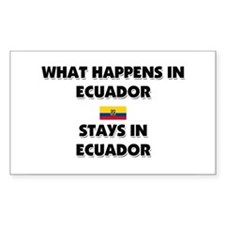 What Happens In ECUADOR Stays There Decal