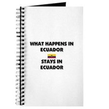 What Happens In ECUADOR Stays There Journal
