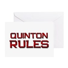quinton rules Greeting Card