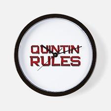 quintin rules Wall Clock