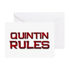 quintin rules Greeting Card