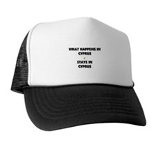 What Happens In CYPRUS Stays There Trucker Hat