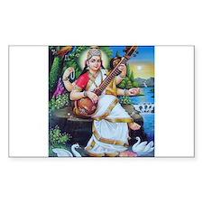 Saraswati ji Rectangle Decal
