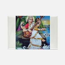 Saraswati ji Rectangle Magnet (10 pack)
