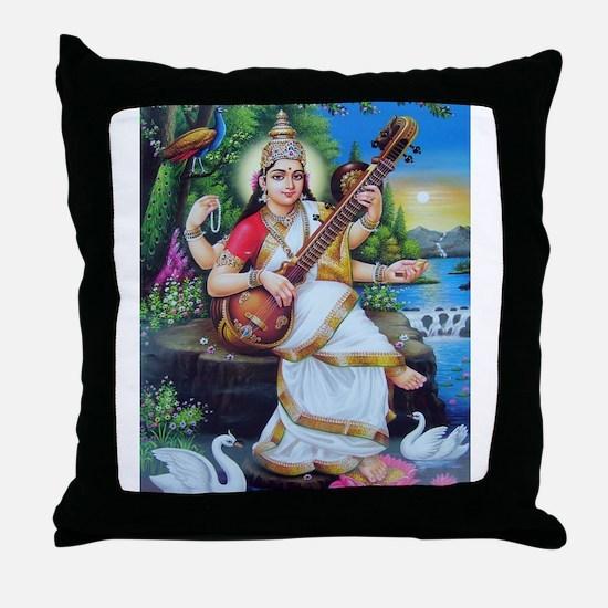 Saraswati ji Throw Pillow