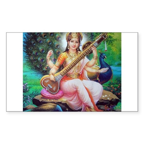 Saraswati ji Rectangle Sticker