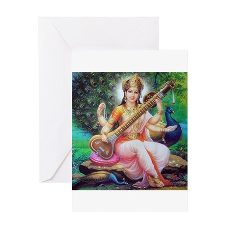 Saraswati ji Greeting Card