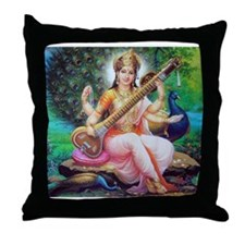 Saraswati ji Throw Pillow