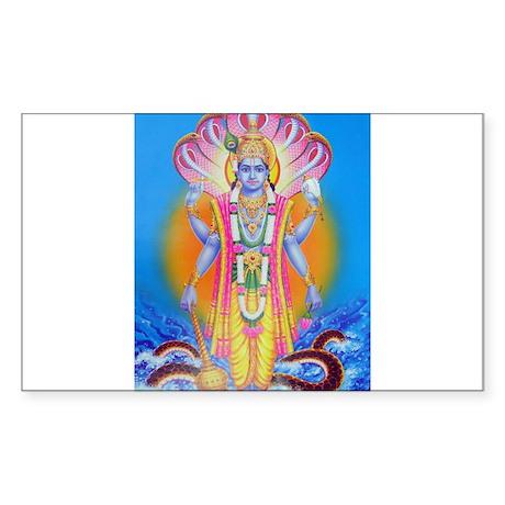 Vishnu ji Rectangle Sticker
