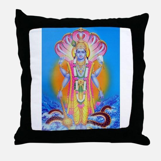 Vishnu ji Throw Pillow