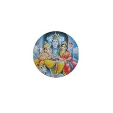 Shiva Parvati Ganesh ji Mini Button