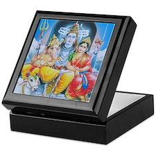 Shiva Parvati Ganesh ji Keepsake Box