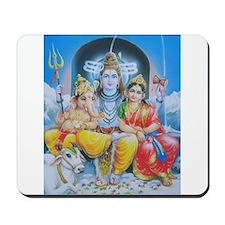 Shiva Parvati Ganesh ji Mousepad