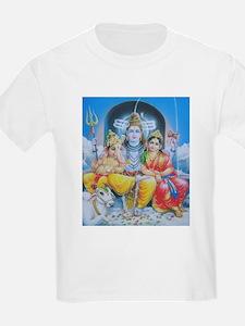Shiva Parvati Ganesh ji T-Shirt