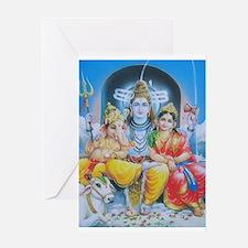 Shiva Parvati Ganesh ji Greeting Card