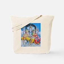 Shiva Parvati Ganesh ji Tote Bag
