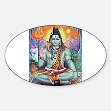 Shiv Ji Oval Stickers