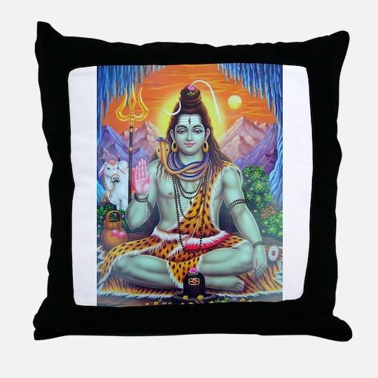 Shiv Ji Throw Pillow