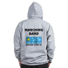 Marching Band Back Image Zip Hoodie