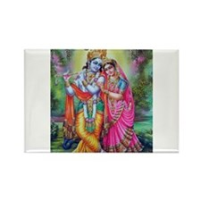 radha krishna Rectangle Magnet