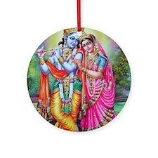 radha krishna Ornament (Round)