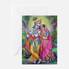 radha krishna Greeting Card